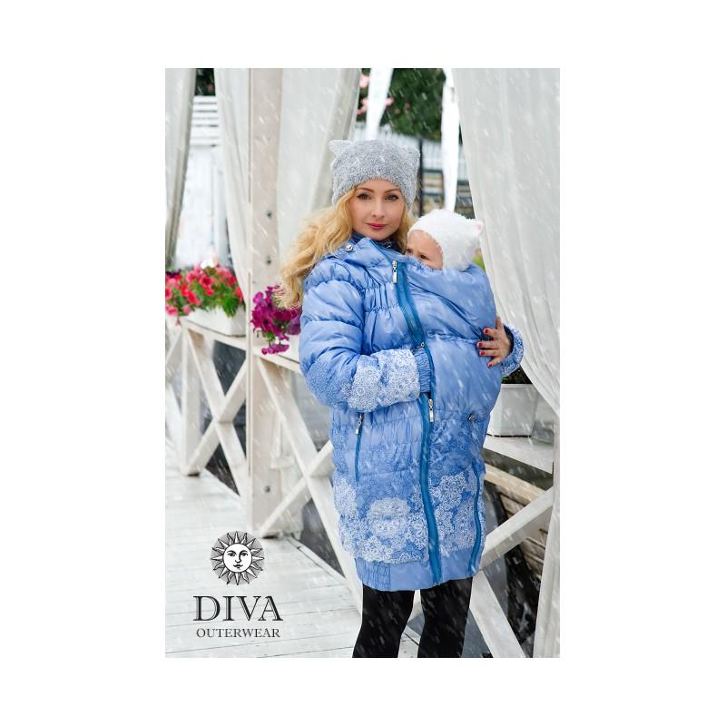 ea305cf318fb Diva Milano babywearing winter coat 3 in 1 Celeste - ŠátkoMánie.cz