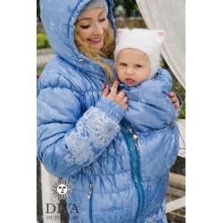 Diva Milano babywearing winter coat 3 in 1 Celeste