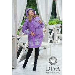 Diva Milano babywearing winter coat 3 in 1 Lavanda