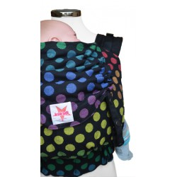 kokadi baby carrier - Black rainbow dots